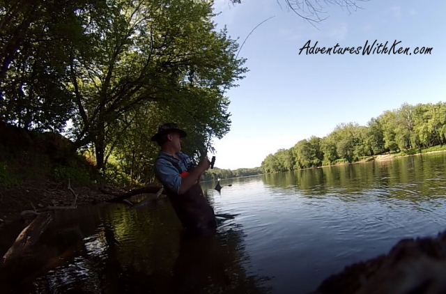 Ken Beam - Shad fishing on Delaware River 2015