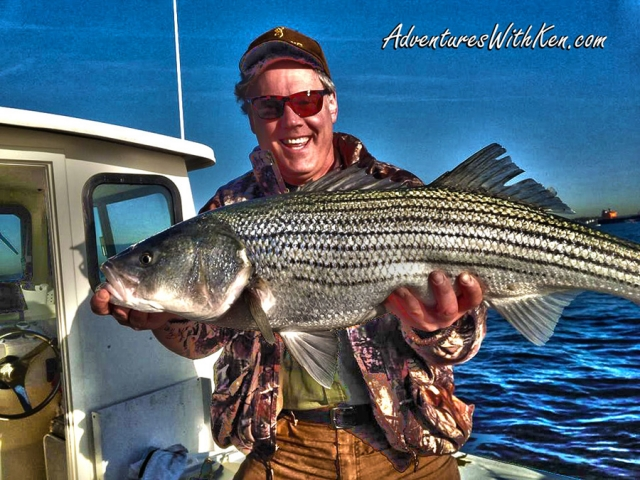 NJ Striper Fishing Ken Beam