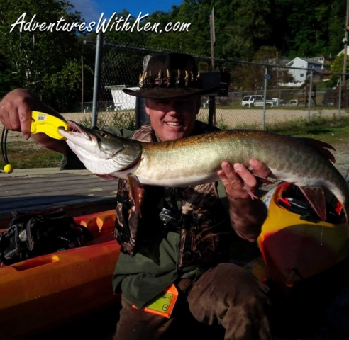 Ken Beam - Musky fishing in his `Yak