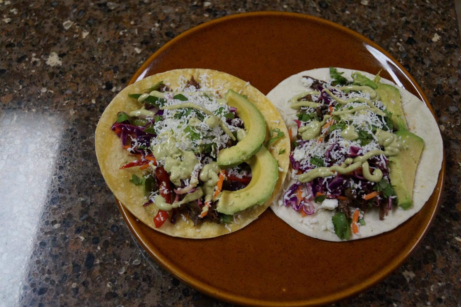 Venison barbacoa tacos
